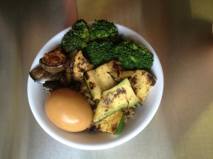 shoyu egg vegetarian bowl